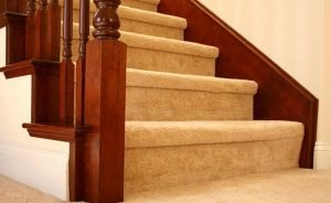 carpet wrapped stairs